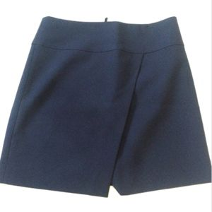 J.Crew Navy Asymmetrical Wrap Mini Skirt